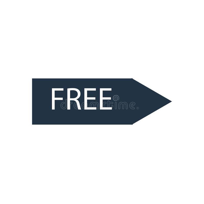 Free icon vector isolated on white background, Free sign vector illustration