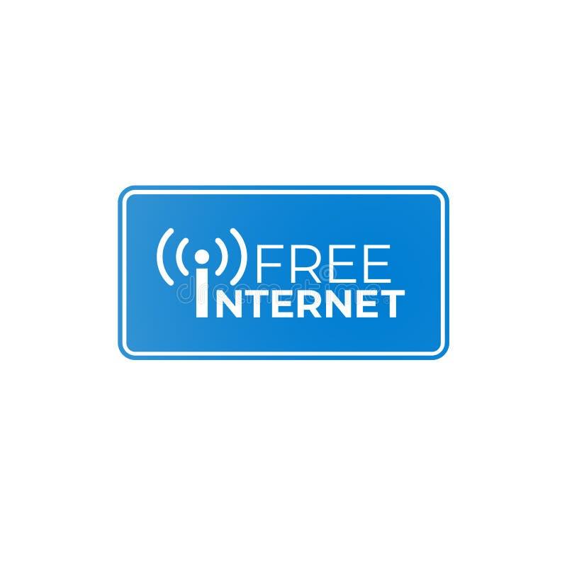Free internet blue signboard vector illustration