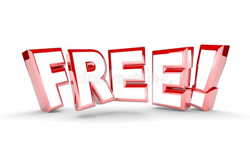Free No Cost Complimentary Bonus Word vector illustration