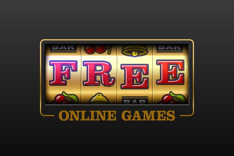 Free_Free-Online-Spiele-Spielautomat stock abbildung