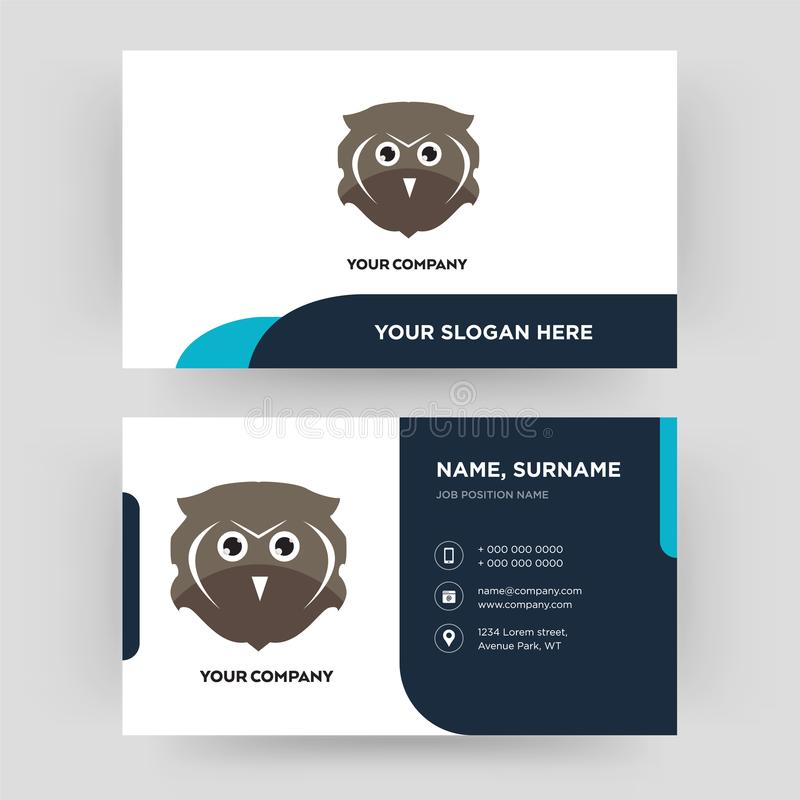 Free Owl Business Card Design Template, Visiting For Your Company ...