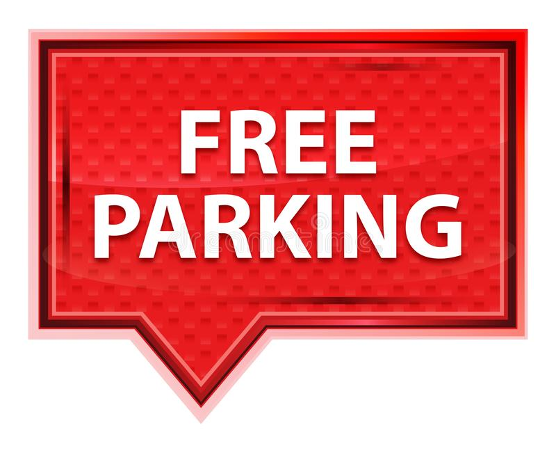 Free Parking misty rose pink banner button royalty free illustration