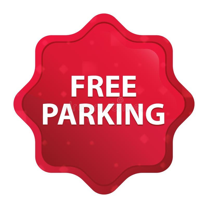 Free Parking misty rose red starburst sticker button vector illustration