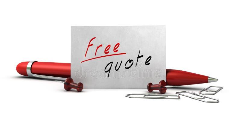 Free quote stock illustration