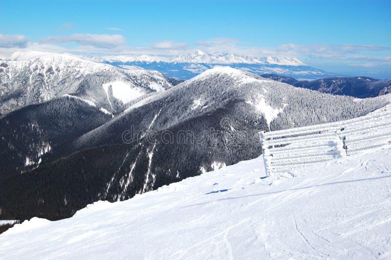 Free ride area on Chopok in Jasna ski resort stock photo