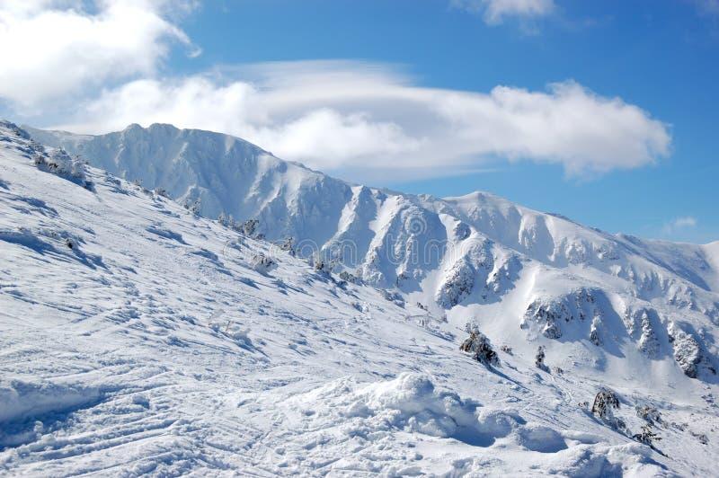 Free ride area in Jasna ski resort stock photos