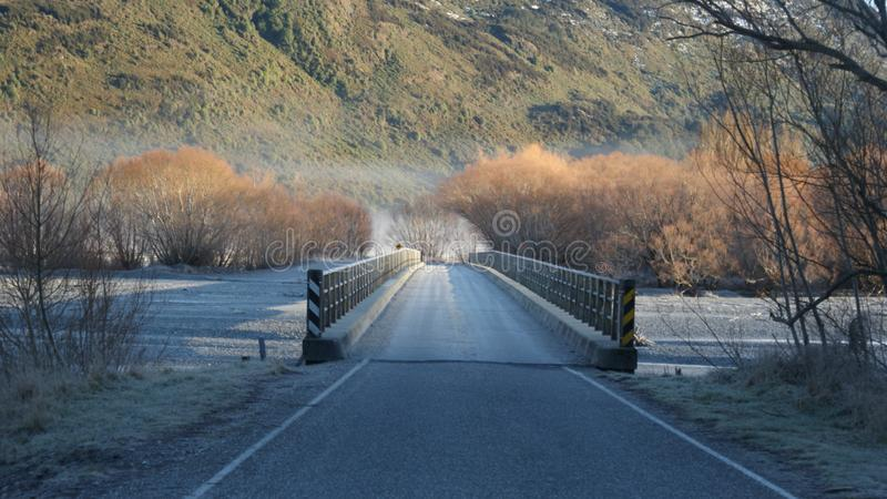 Free Road on the Bridge With View of Mountain royalty free stock images