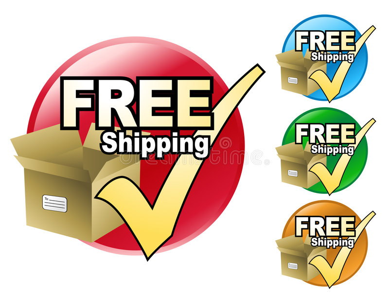 Download Free Shipping Circle stock vector. Image of packaging - 7209205