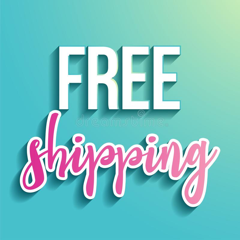 Free shipping - handwritten lettering. Hand drawn typography.  Good for scrap booking, posters, greeting cards, banners, textiles, gifts, T-shirts, mugs or vector illustration