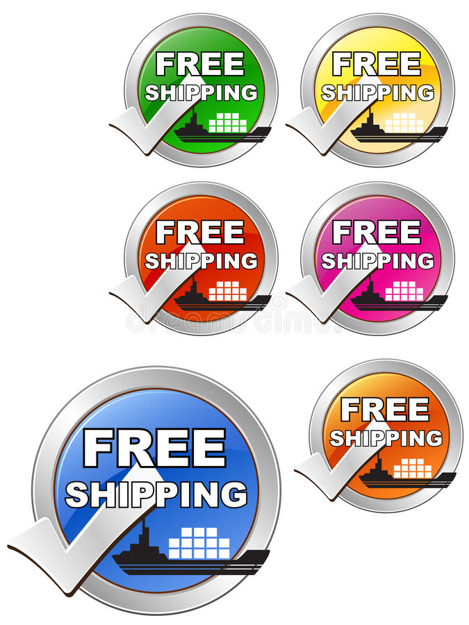 Download Free Shipping Label stock vector. Image of cargo, coupon - 23764820