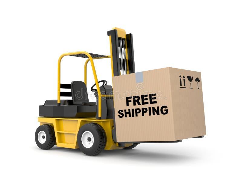 Free shipping metaphor stock illustration