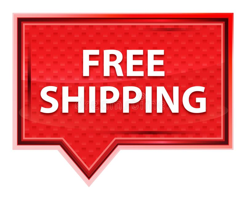 Free Shipping misty rose pink banner button stock illustration