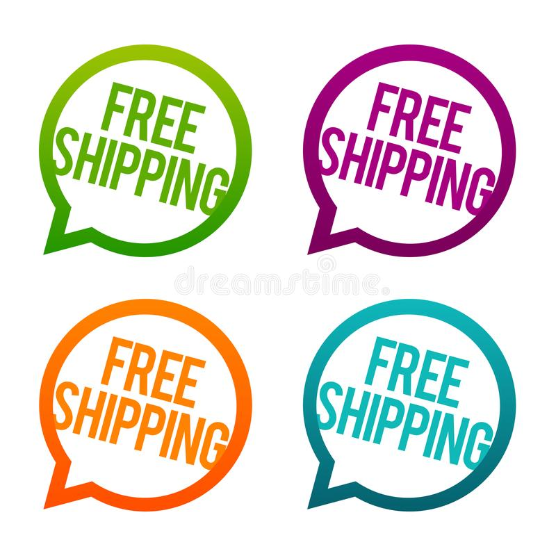 Free Shipping round Buttons. Circle Eps10 Vector. vector illustration
