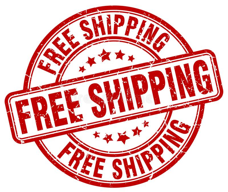 Free shipping stamp royalty free illustration
