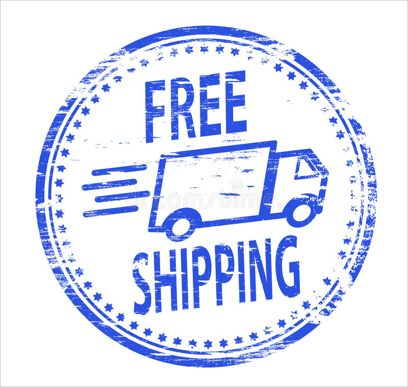 Free Shipping Rubber Stamp stock illustration