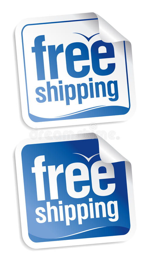 Free Free Shipping Stickers. Stock Photo - 18638440