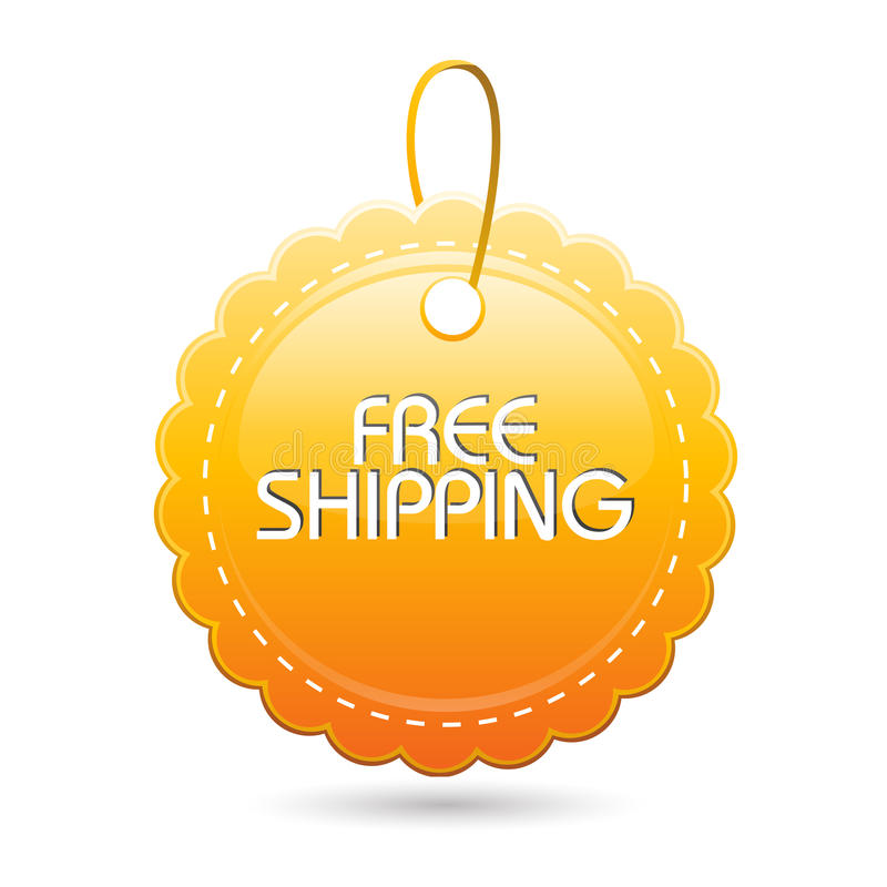 Download Free shipping tag stock vector. Image of price, circle - 17548036