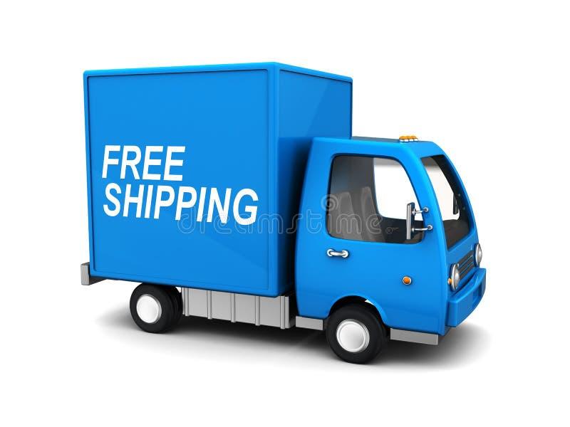 Free shipping truck vector illustration