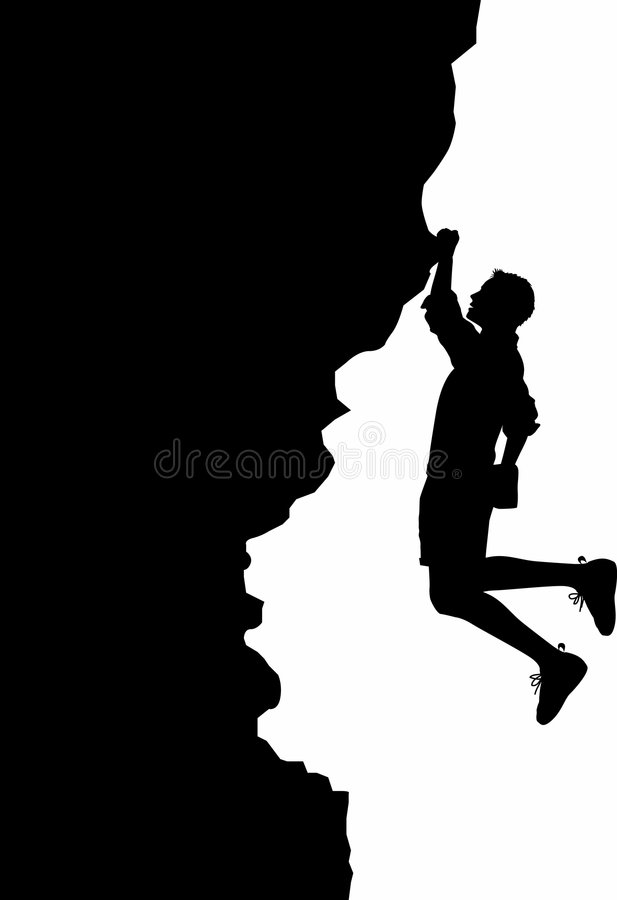 Download Free-solo_01 stock vector. Image of exertion, pitch, boulder - 1229002