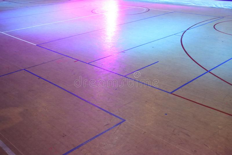 Free space, area with stripes Within the volleyball field For abstract background stock images