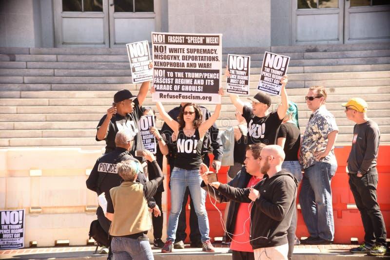 The Free Speech Battle At UC Berkeley royalty free stock photos