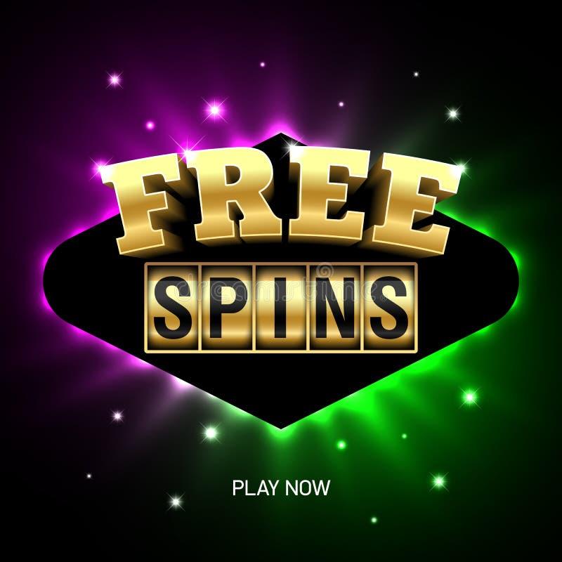 Free Spins banner royalty free illustration