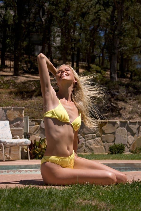 Free Spirited Sun Bather Stock Photo