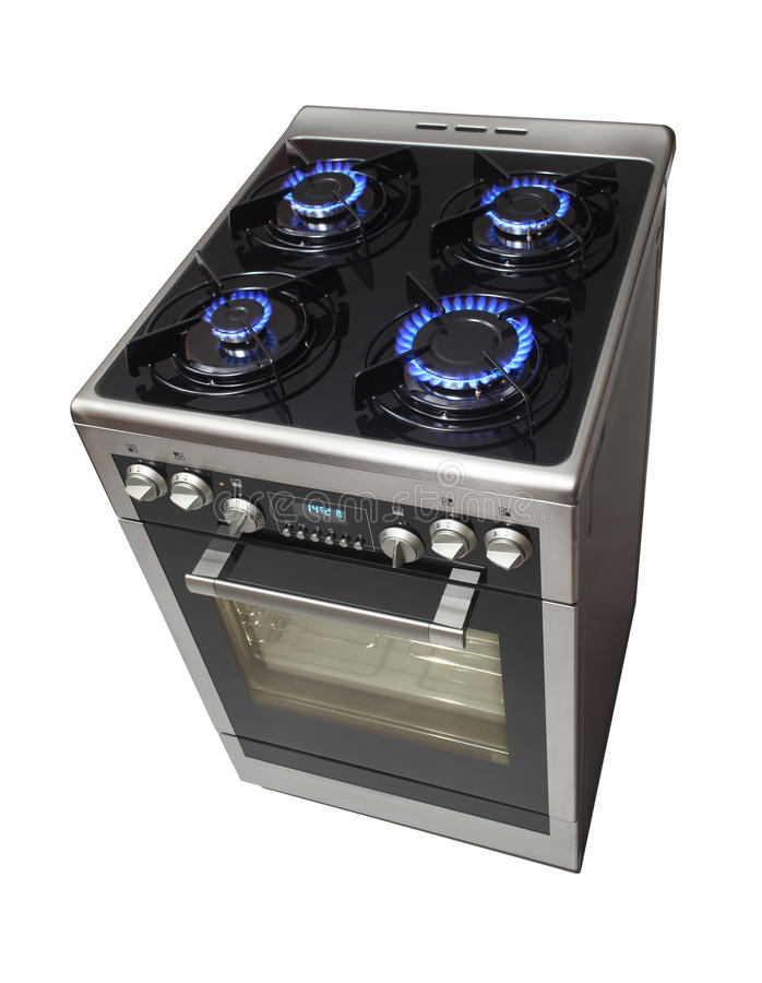 Free standing cooker stock photography
