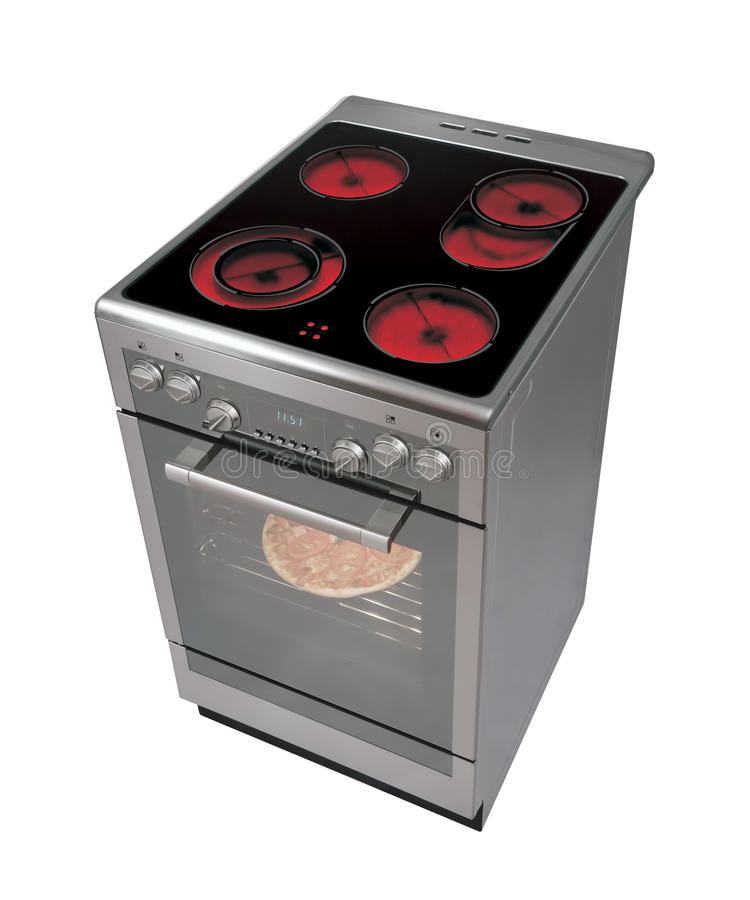 Free standing cooker royalty free stock photography
