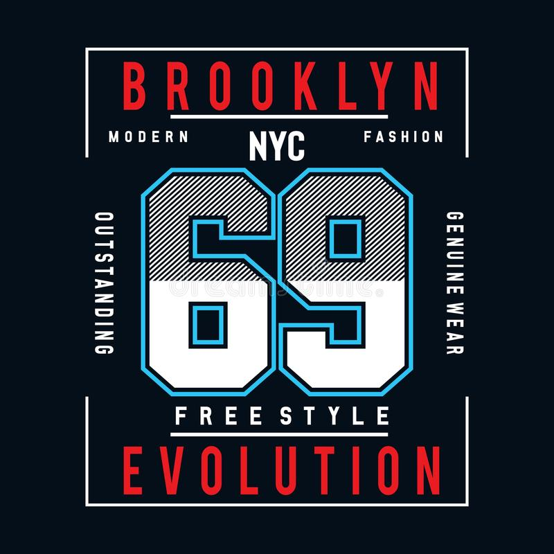 Free style typography design tee  for t shirt. Graphic design,vector illustration,- Vector royalty free illustration