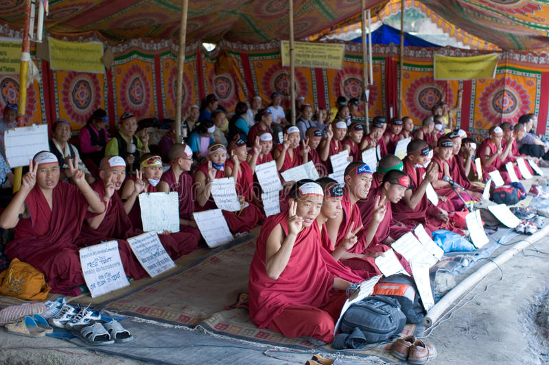 Free Tibet Movement royalty free stock images