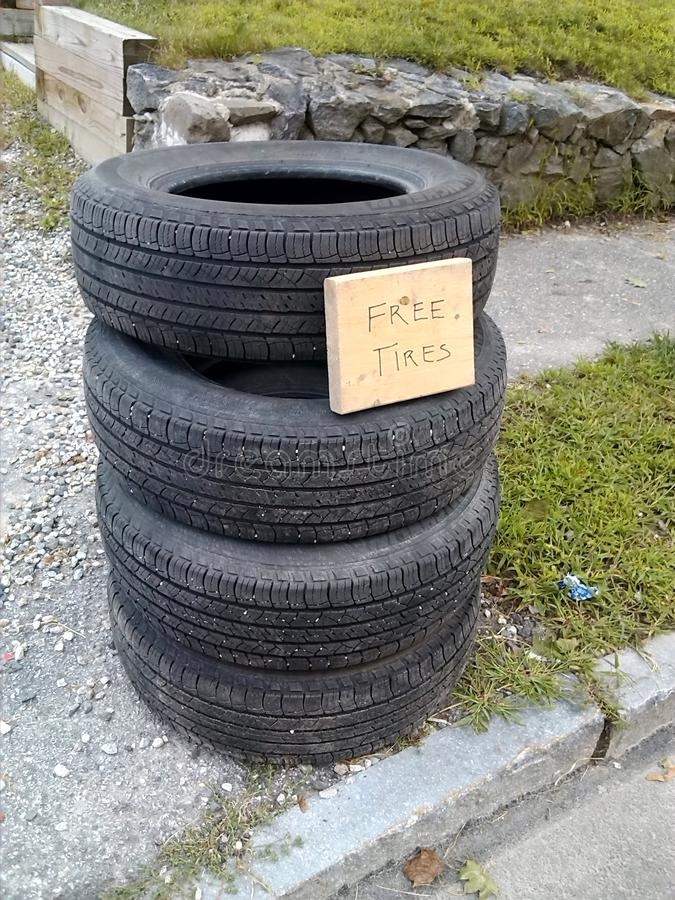 Free tires. royalty free stock images