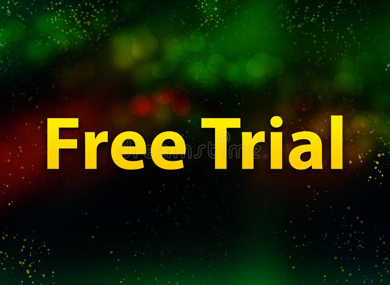 Free Trial abstract bokeh dark background vector illustration