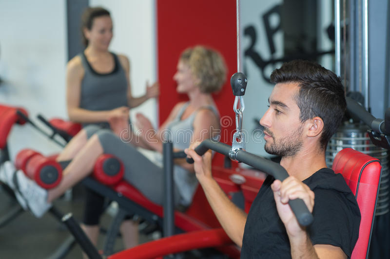Free trial at gym stock photo