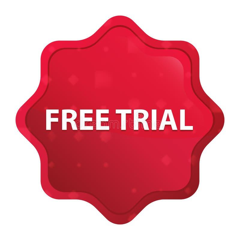 Free Trial misty rose red starburst sticker button vector illustration