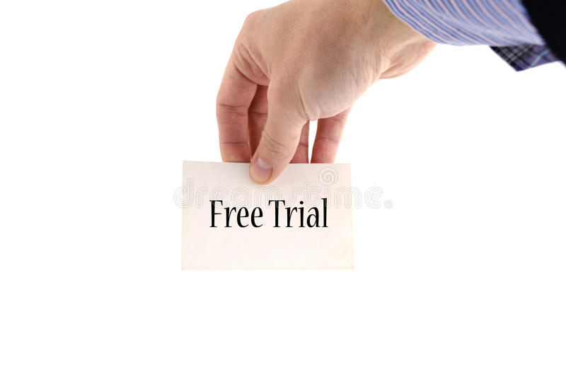 Free trial text concept royalty free stock photography