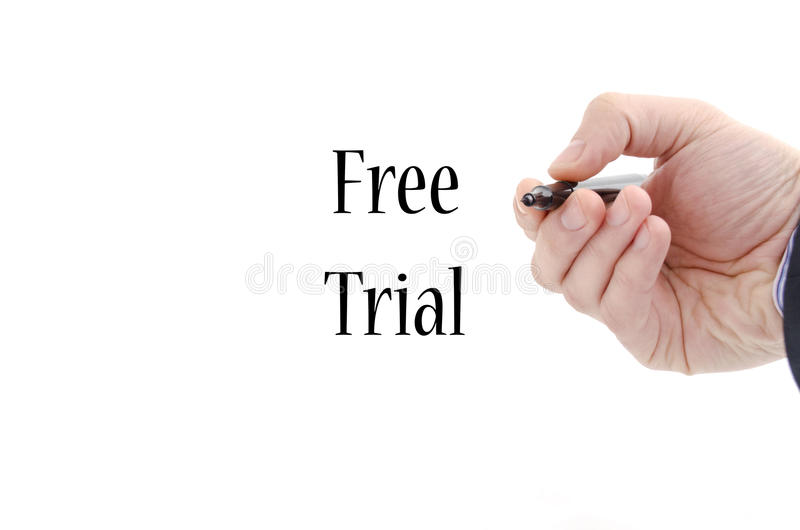 Free trial text concept royalty free stock image