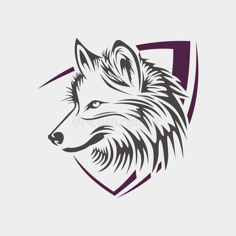 Free vector Wolf logo Tamplate vector illustration