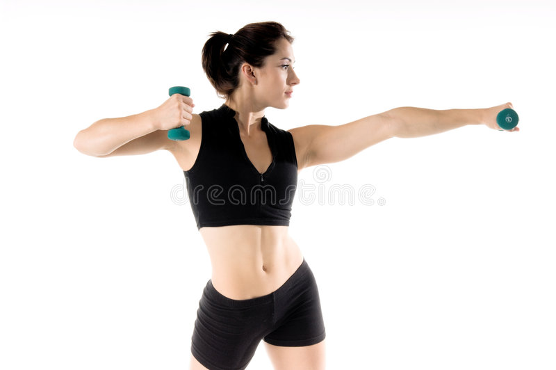 Free Weight Work Out stock photo