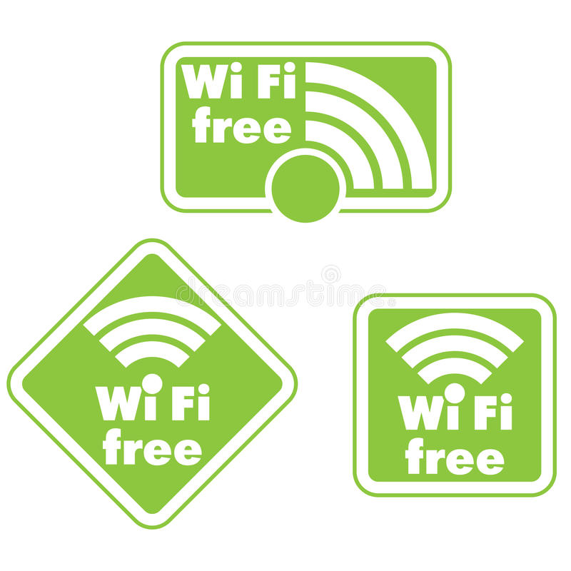 Free wifi and Internet sign royalty free illustration