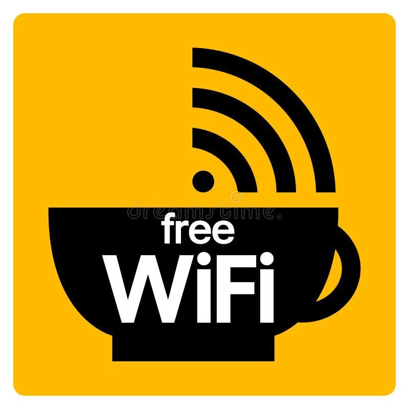 Free WiFi Symbol Sign, Vector Illustration, Isolate On White Background Label .EPS10 vector illustration