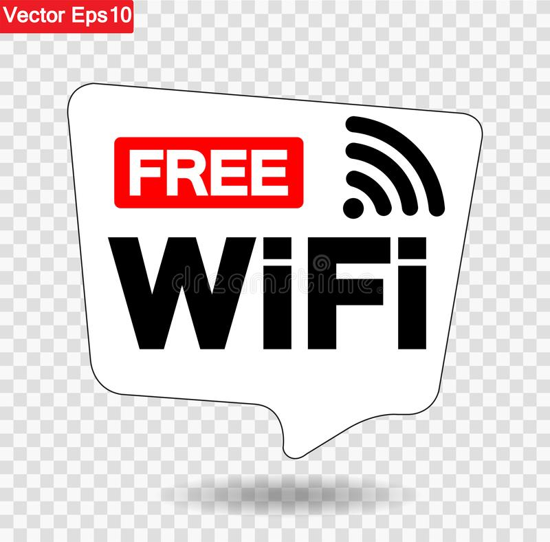 Free WiFi Symbol Sign, Vector Illustration, solated On Transparent Background Symbol, Vector Illustration .EPS10 royalty free illustration