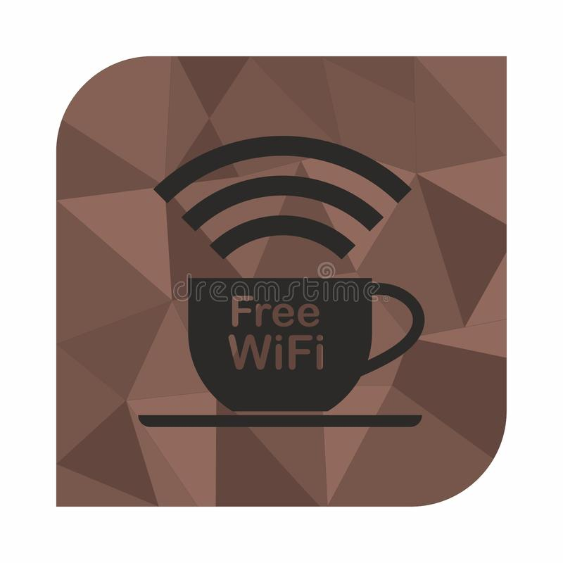 Free wifi zone, icon concept for cafe or coffee shop stock illustration