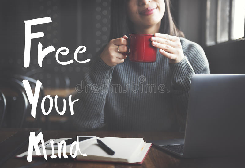 Free Your Mind Positive Relaxation Chill Concept royalty free stock photos