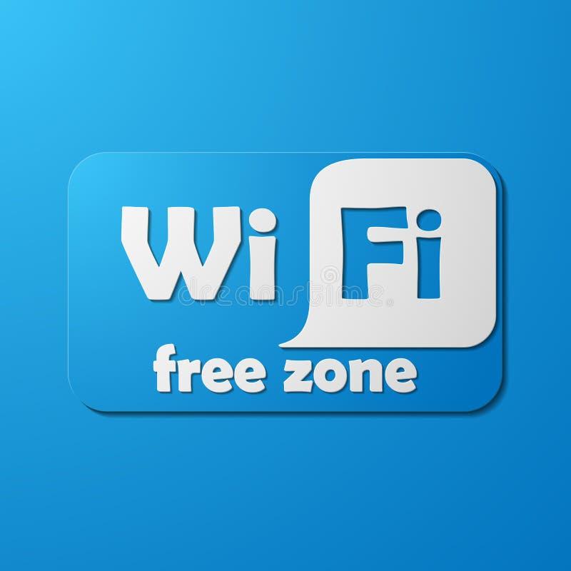 Free Zone wi-fi, sticker royalty free illustration