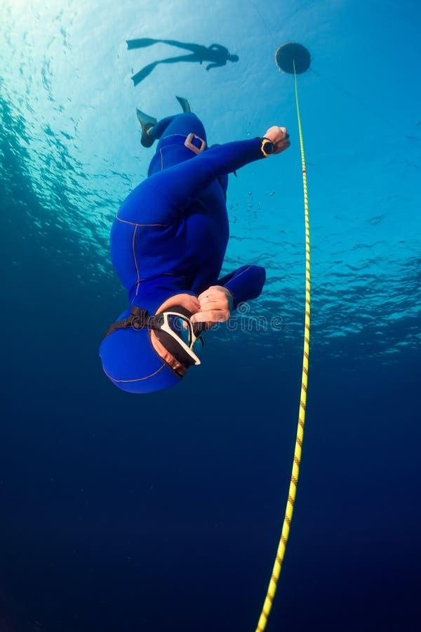 Freediver arkivfoto