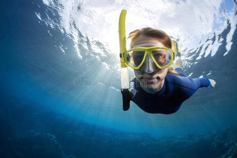 Freediver royalty free stock photography