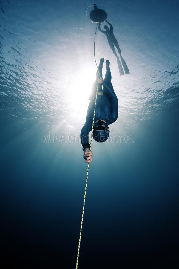 Freedivers στοκ εικόνες