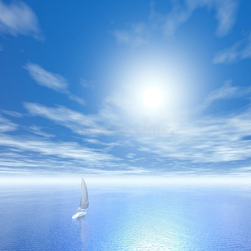 Download Freedom stock illustration. Image of color, sails, lake - 4151498