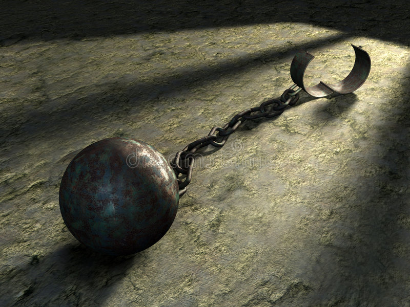 Download Freedom stock illustration. Illustration of chain, enslave - 8560007